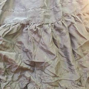 BCBGMaxAzria Skirts - 100% Silk crinkle skirt with beaded waist